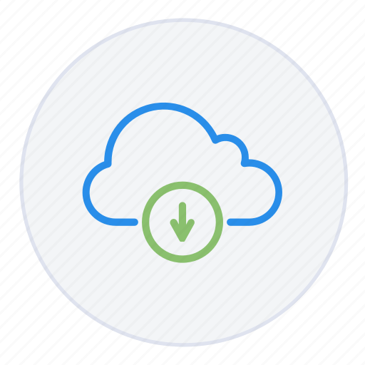 arrow, cloud, database, down, download, hosting, storage icon