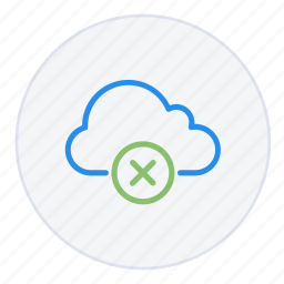 cloud, computing, cross, delete, disconnect, hosting, remove icon