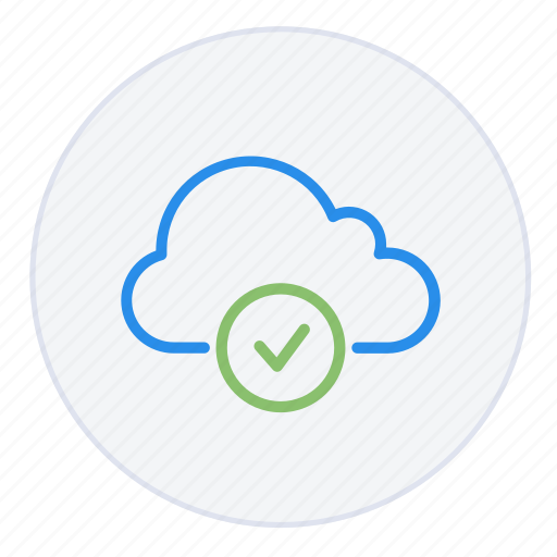check, cloud, complete, hosting, network, operation, upload icon