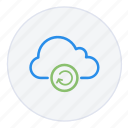 arrow, cloud, hosting, network, reboot, refresh, storage icon