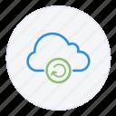 arrow, cloud, hosting, reboot, refresh icon