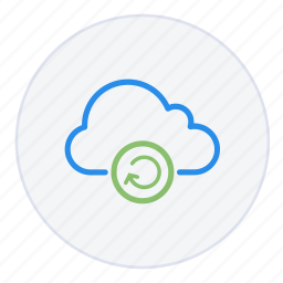 arrow, cloud, hosting, network, reboot, refresh, storage icon