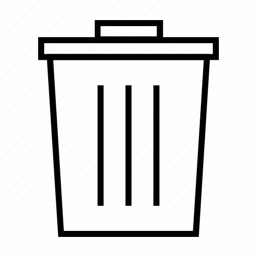bin, can, delete, dustbin, recycle, remove, trash icon