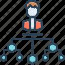 company, company structure, organization, structure icon