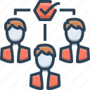 encourage, impellent, motivation, persuasive, team, team motivation icon