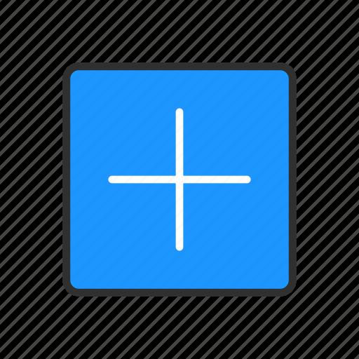 add, math, plus, square icon