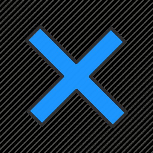 error, math, multiply, wrong icon