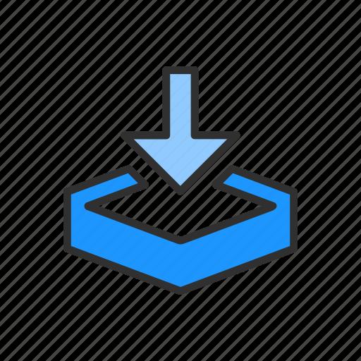 download, download file, dropbox, save file icon