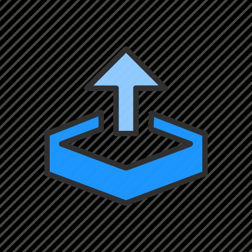 arrow, arrow up, download, upload file icon