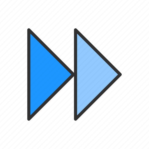 arrow, fast forward, forward, next icon