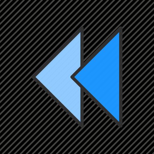 arrow, navigator, playback, rewind icon