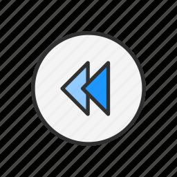 arrow, playback, replay, rewind icon