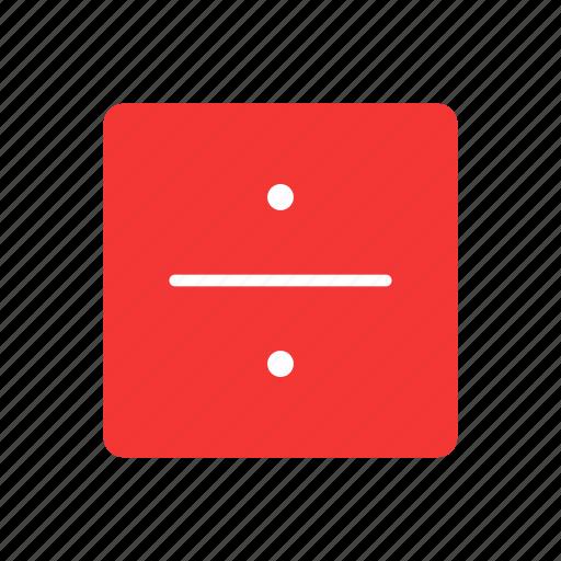 divide, division, mathematics, square icon