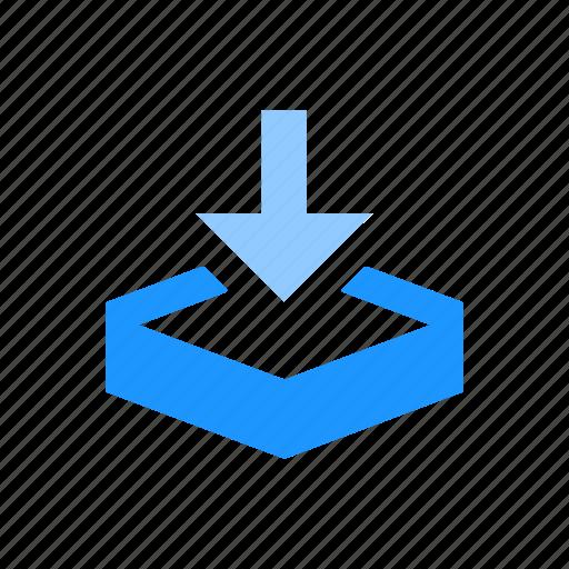 arrow, download, download file, dropbox icon