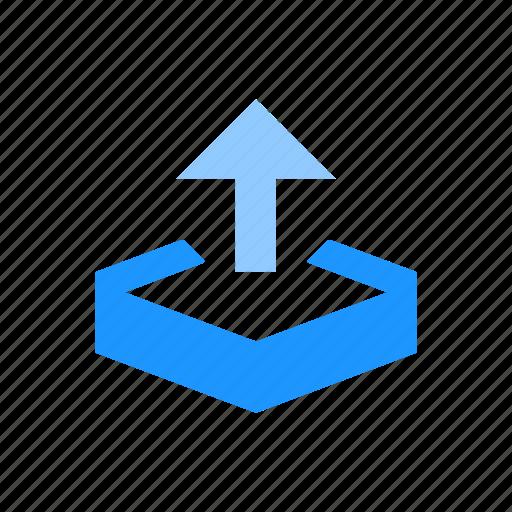 arrow, save file, upload, upload file icon