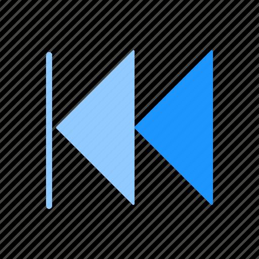arrow, back, navigate, playback icon