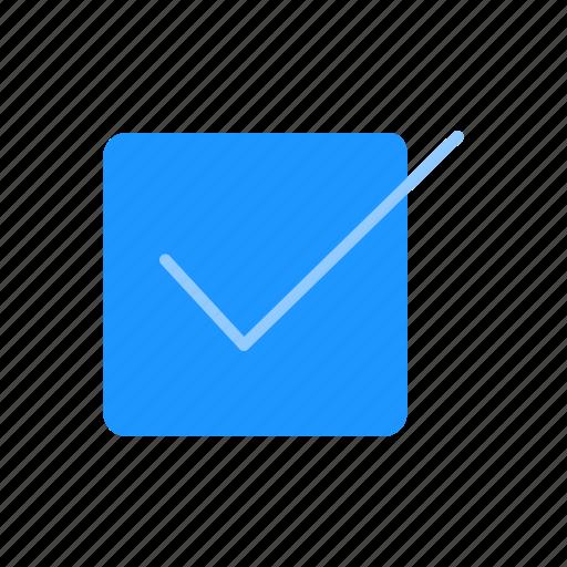 check, correct, done, save file icon