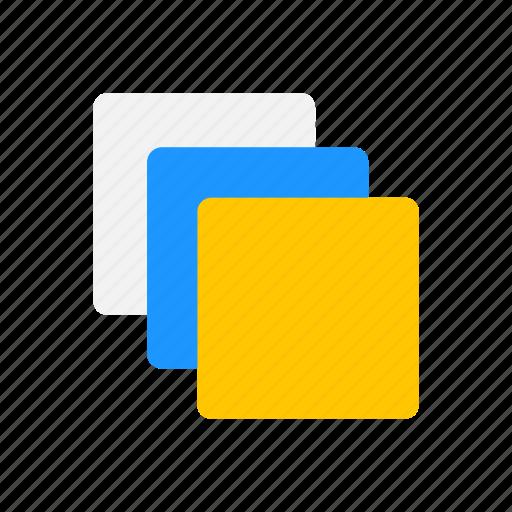 disk, duplicate file, shape, square icon