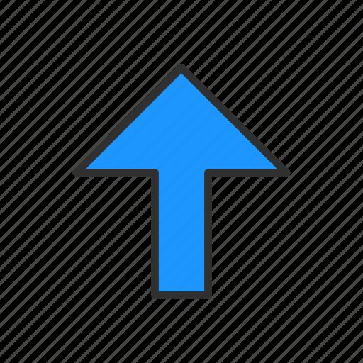 arrow, arrow up, navigator, pointer icon