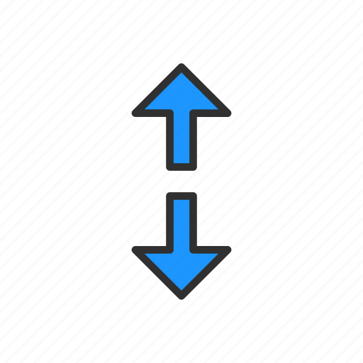 arrow, arrow up and down, direction, navigate icon