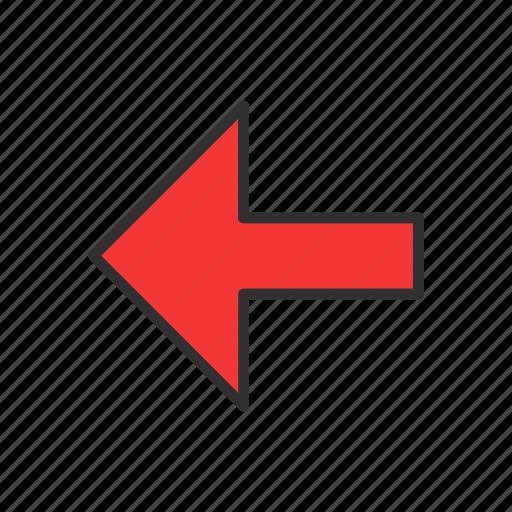 arrow, arrow left, navigator, pointer icon