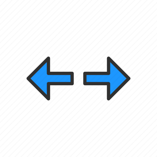 arrow, cursor, left and right, navigator icon
