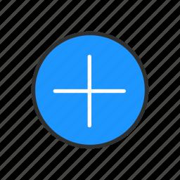 add, circle, cross, plus icon