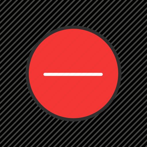 delete, reduce, remove, subtruct icon