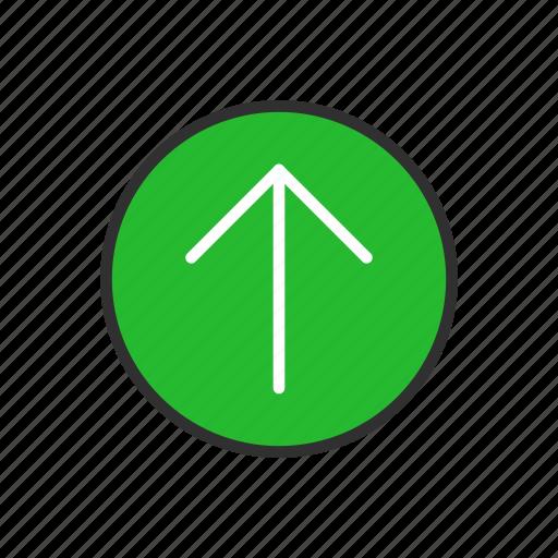 arrow, arrow up, upload, uploading icon