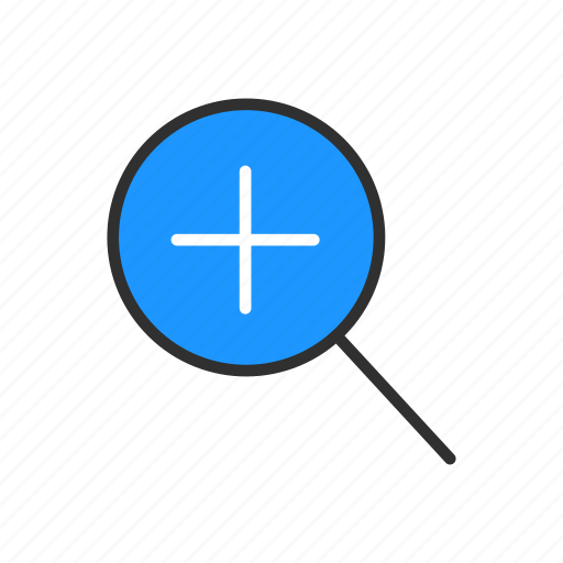 add, magnify, zoom, zoom in icon