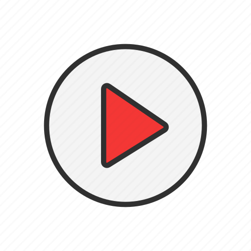 arrow, play video, start, video icon