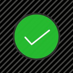 approve, check, check mark, correct icon