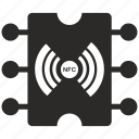 chip, module, nfc, payment, service, wireless icon