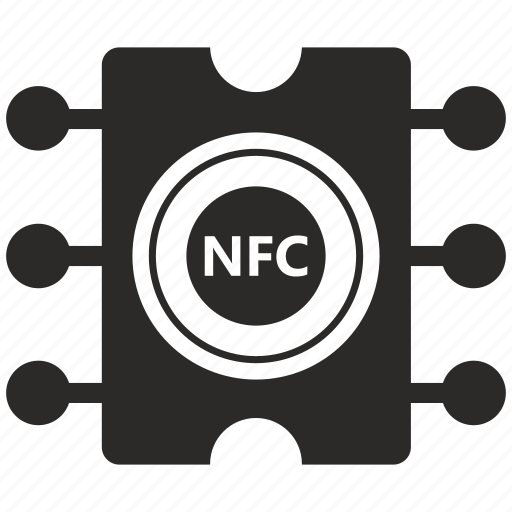 chip, label, module, nfc, payment, round icon