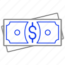 bank, cash, currency, finance, money, paper, stack icon