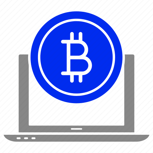 bitcoin, currency, finance, internet, laptop, money, online icon
