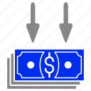 bank, cash, deposit, finance, money, service icon