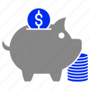 bank, cash, coin, finance, piggy, saving icon