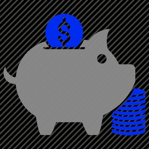 bank, cash, coin, finance, piggy, saving icon