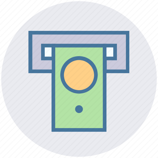 atm, atm machine, cash, cash out, dollar, money, withdrawal icon