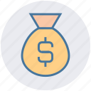 bag, bank, banking, dollar, finance, money, savings icon