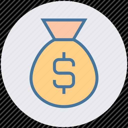 bag, bank, banking, dollar, finance, money, savings icon