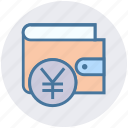 currency, ecommerce, money, payment, sterling, wallet, yen icon