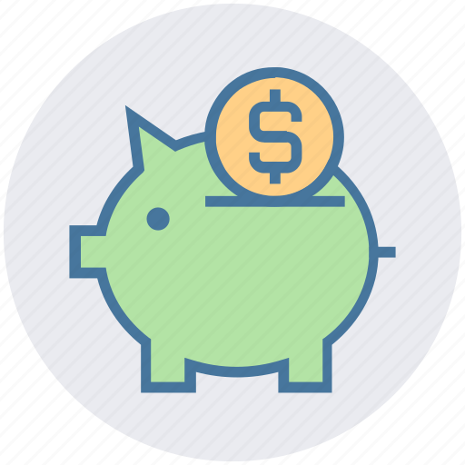 coin, finance, money, pig, piggy, piggy bank, saving icon