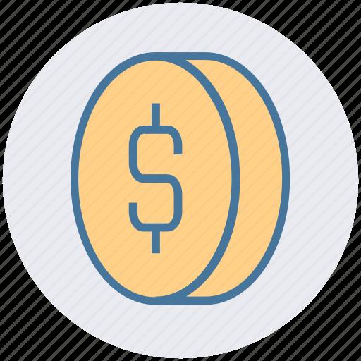 bit coin, business, coin, dollar, finance, money, sign icon