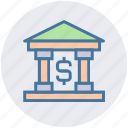 bank, banking, dollar, finance, investment, money, sign icon