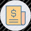 business, currency, document, dollar, headline, money, news