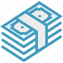 bank notes, cash, currency, dollar, dollar notes, money, payment icon