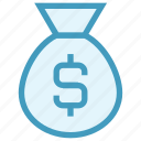 bag, currency, dollar, loan, money, money bag, savings icon