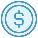 bit coin, business, coin, currency, dollar, money, sign icon